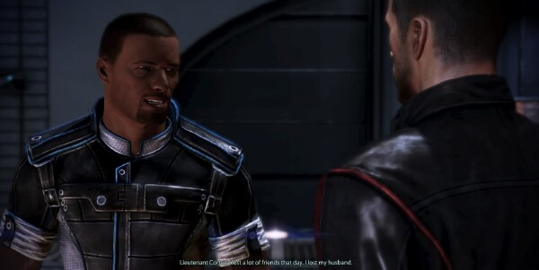 Cortez and the male version of Commander Shepard